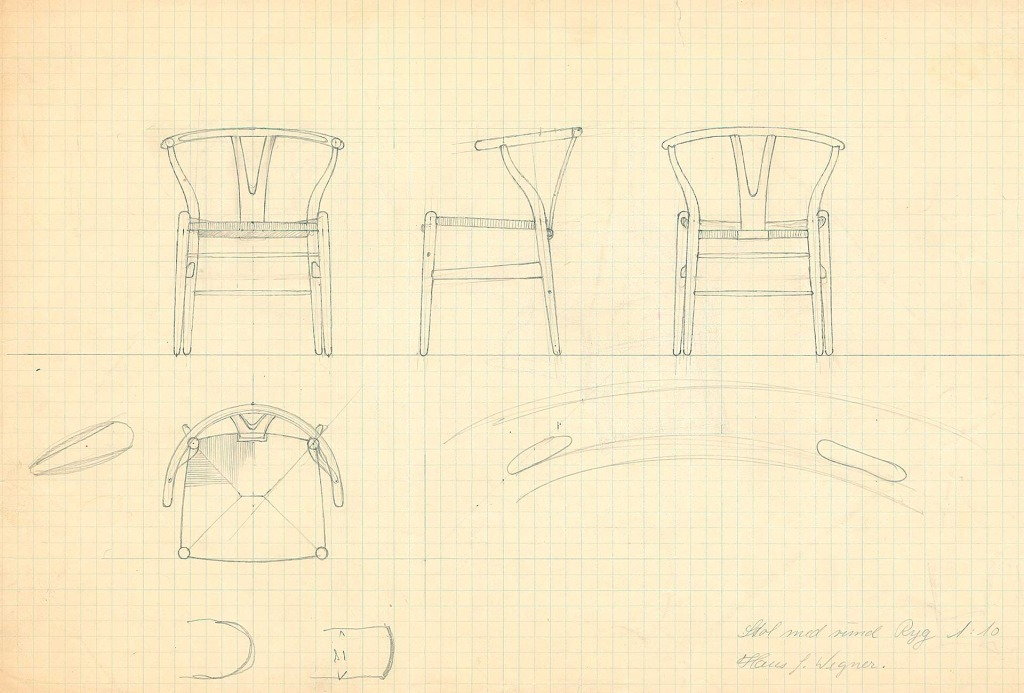 Sketches of <em>Wishbone Chair</em>, 1950.