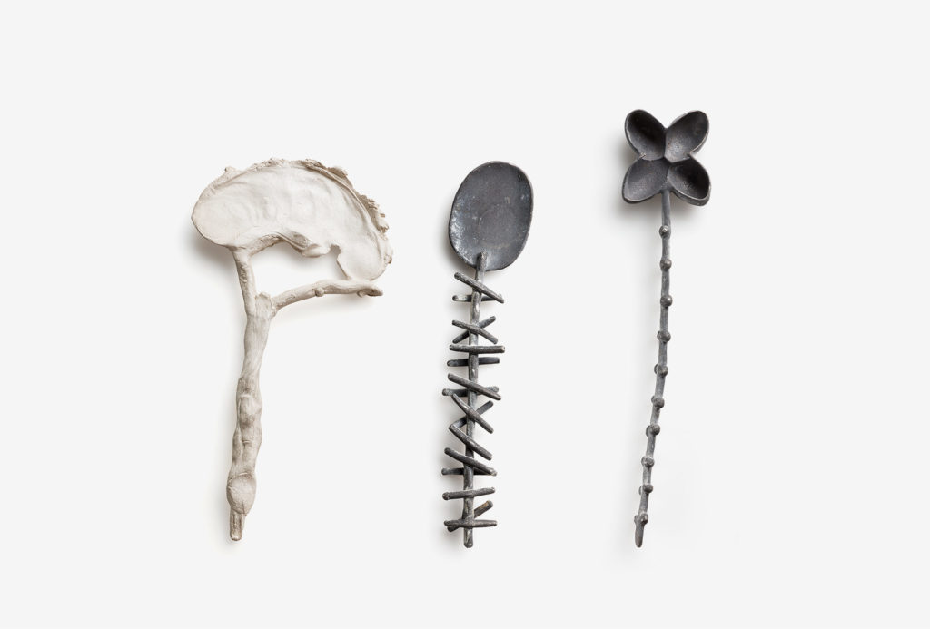 Spoons from the <em>creatura</em> series. 925 silver. Photo Federico Cavicchioli