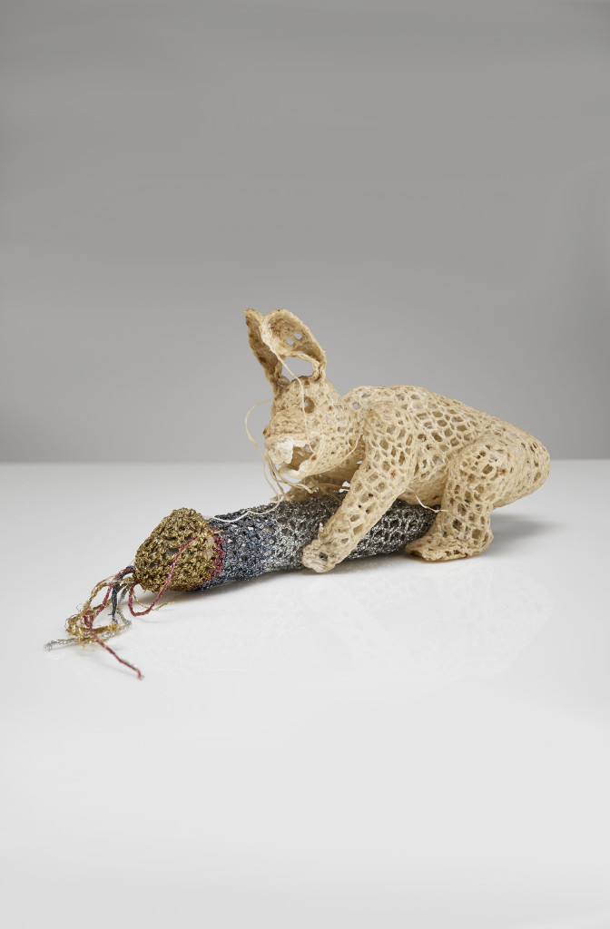 <em>Hare</em> 2010, 25 x 14 x 12, cotton resin