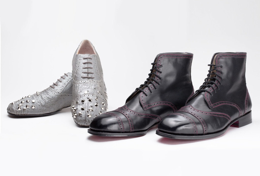 Low shoes, ostrich leather. Boots for men, boxcalf leather